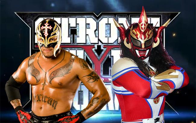 rey mysterio en promocional de NJPW