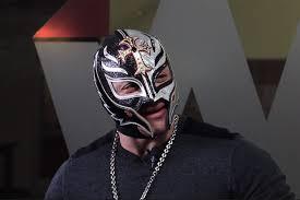 rey mysterio máscara negra con plata