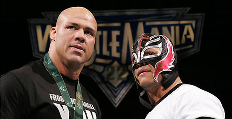 Rey Mysterio y Kurt Angle