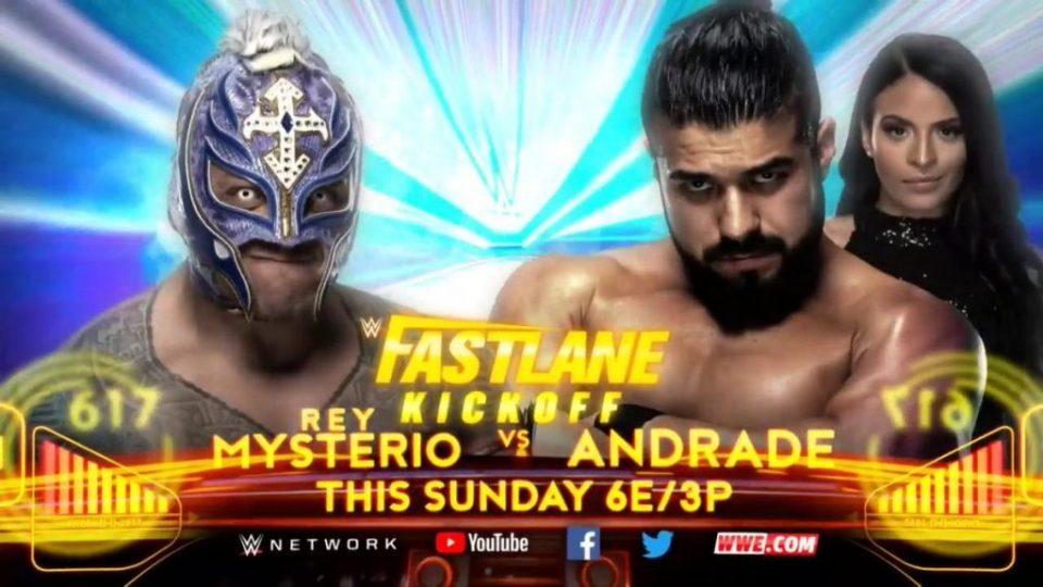Rey Mysterio contra Andrade en el Fastlane